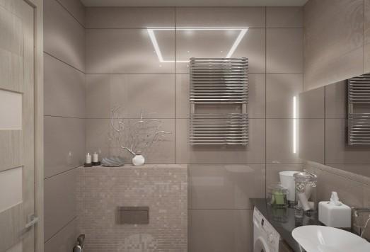 Дизайн ванной комнаты в Лефортово