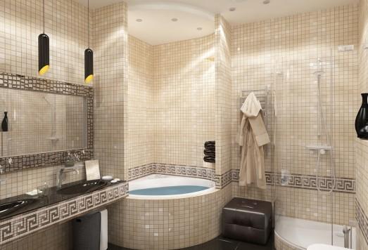 Дизайн ванной комнаты в Химках