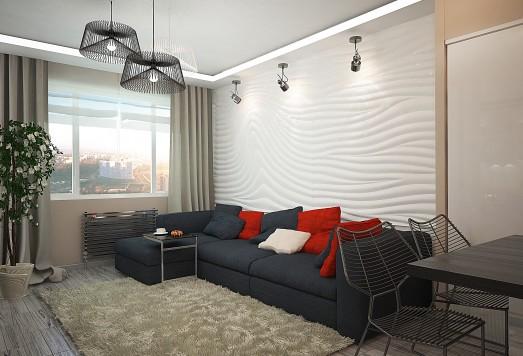 Дизайн проект однокомнатной квартиры ЖК Рокоссовского