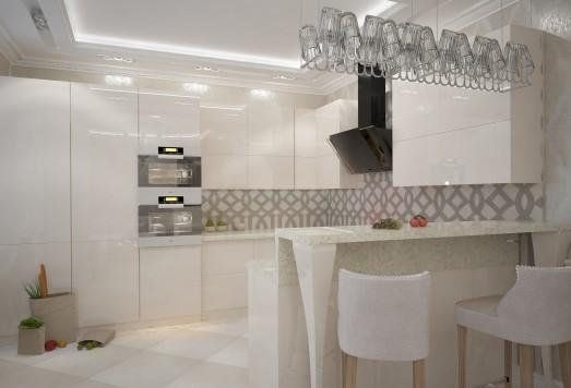 Дизайн проект квартиры в стиле Арт Деко ЖК Одинцово