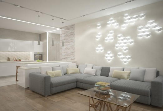Дизайн проект квартиры в современном стиле ЖК Букинист