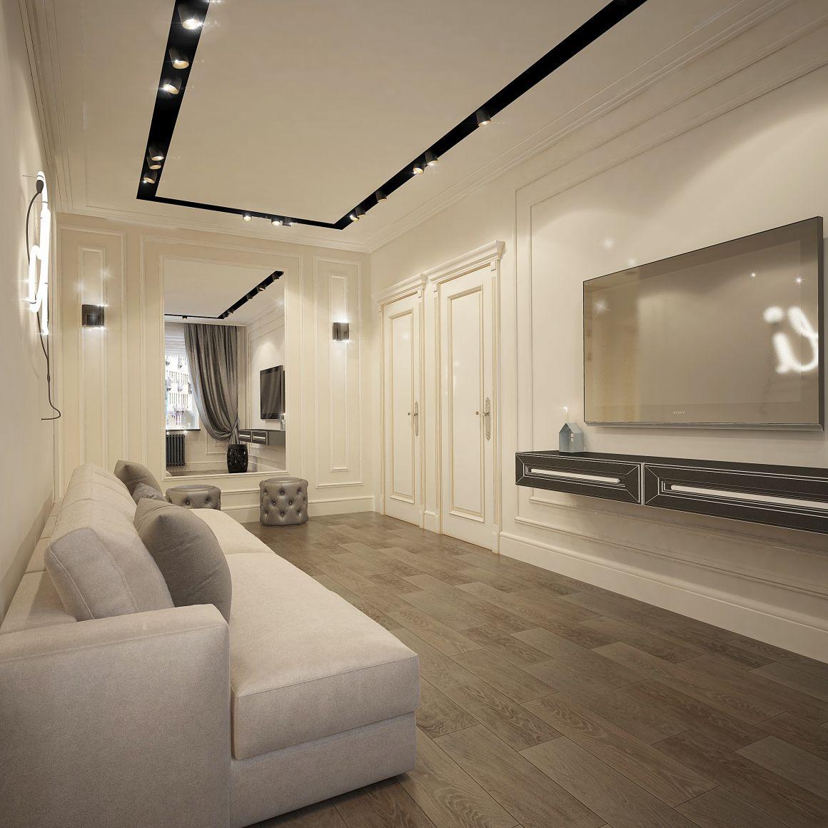 Дизайн проект квартиры 43 м